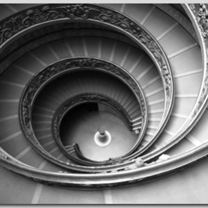 Vaticaanstad ronde trappen canvas